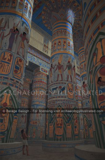 Karnak, The Hypostyle Hall of Ramesses II, 13th Century BC - Archaeology Illustrated