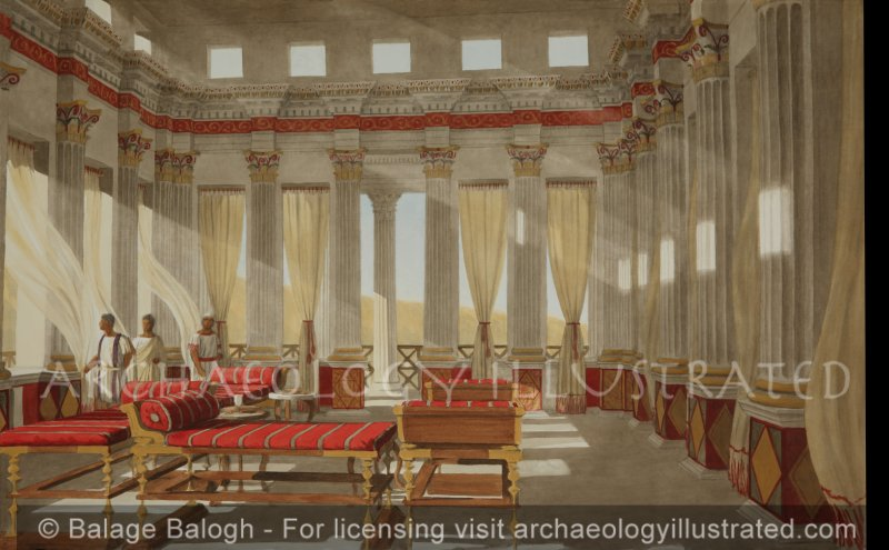 Masada, The Banquet Hall in Herod's Palace, 1st century BC - Archaeology Illustrated