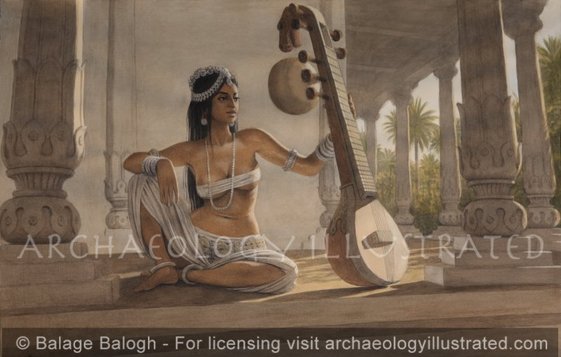 The Chitra Veena Player, Ancient India - Archaeology Illustrated