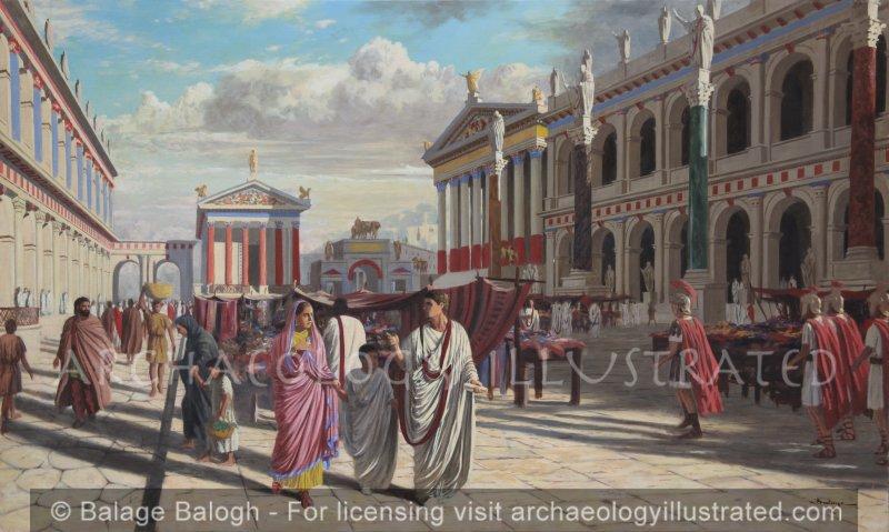 The Roman Forum, Basilica Julia and Basilica Aemilia - Archaeology Illustrated