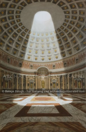 Rome, The Pantheon, 2nd century AD - Archaeology Illustrated