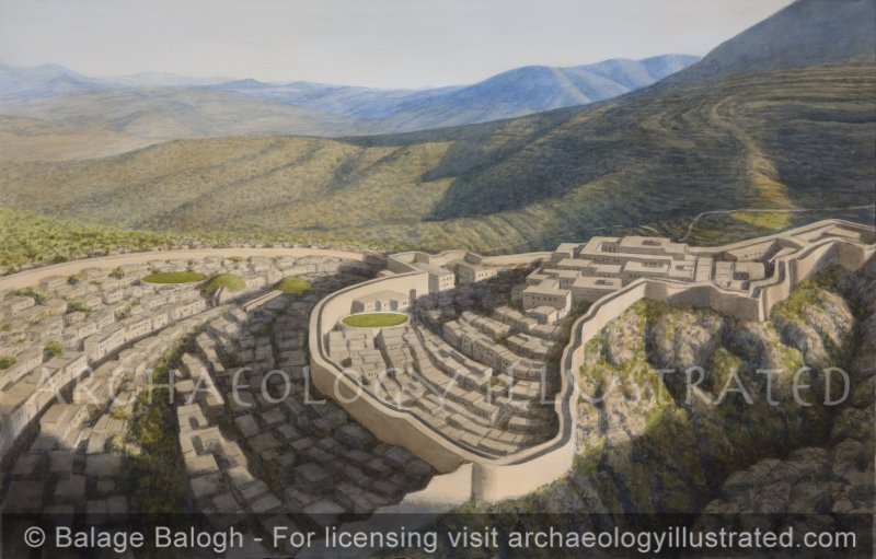 Mycenae, Home of Agamemnon, Late Bronze Age, 13th century BC, Facing NW in Morning Light - Archaeology Illustrated