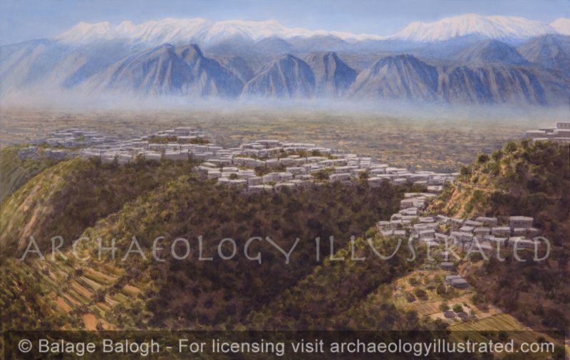 Sparta in the Mycenaean Period 14th-13th Centuries BC, Facing Southwest - Archaeology Illustrated
