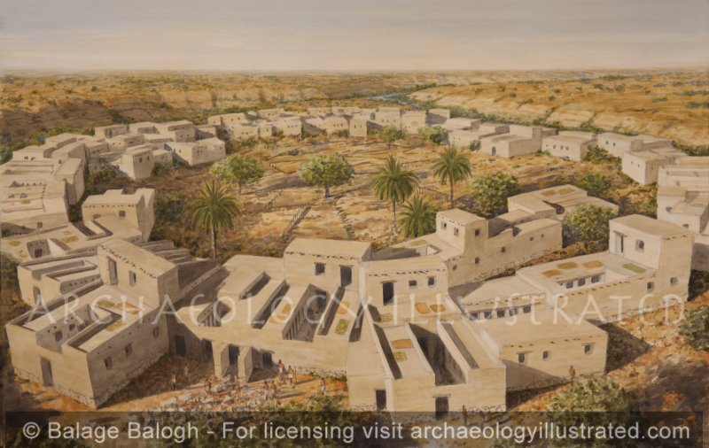 Tel Masos, an Early Israelite Settlement in the Northern Negev by Nahal Beersheba, Late13th-11th Centuries BC, Looking Southwest - Archaeology Illustrated