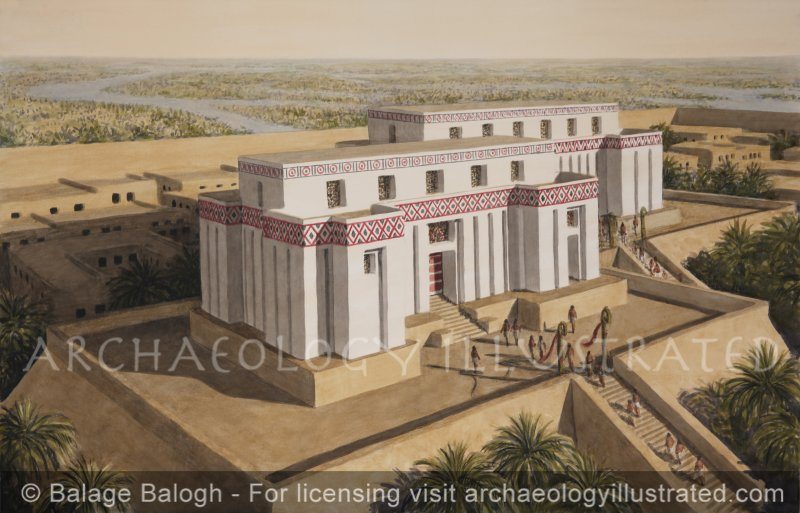 The Temple of Eridu, Temple VII (Level 7), Ubaid Period, 4300 BC, Facing North - Archaeology Illustrated