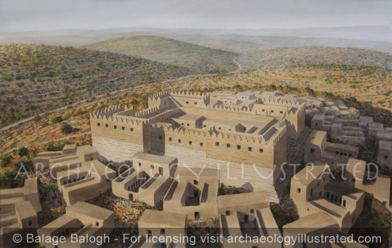 Gibeah, Shaul's Fortress Overlooking the Main North-South Road Between Jerusalem and Shechem, Looking North, 11th Century BC - Archaeology Illustrated