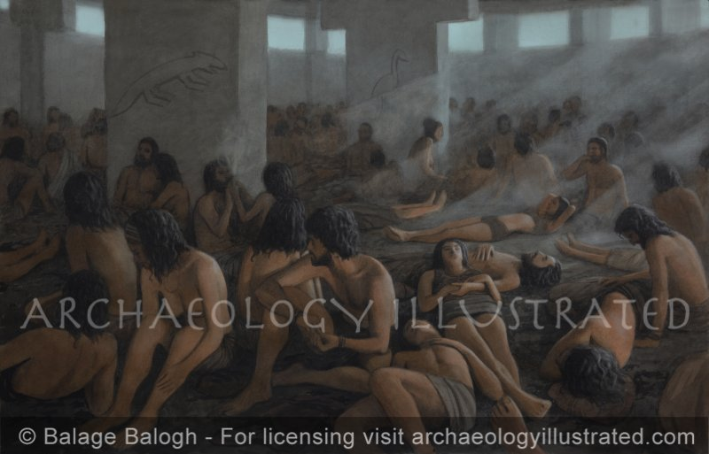 Gobekli Tepe: Tribal Gathering in the Round Hall, 10,000 BC, On the Edge of the Harran Plain, Southeast Turkey - Archaeology Illustrated