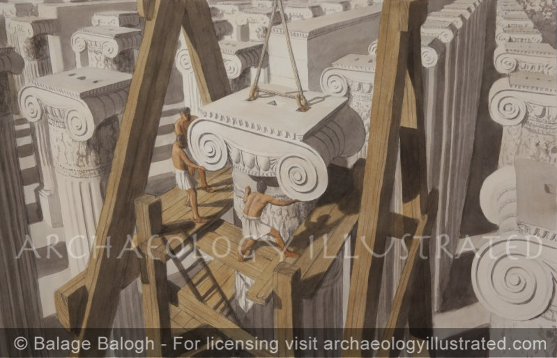 Greek Builders at the Temple of Artemis, Ephesus - Archaeology Illustrated